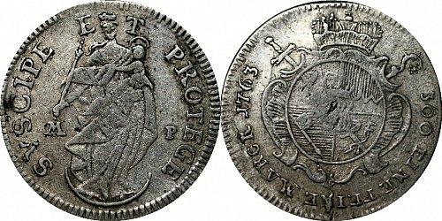 1763-MP German States - Wurzburg 4 Kreuzer (KM# 372)
