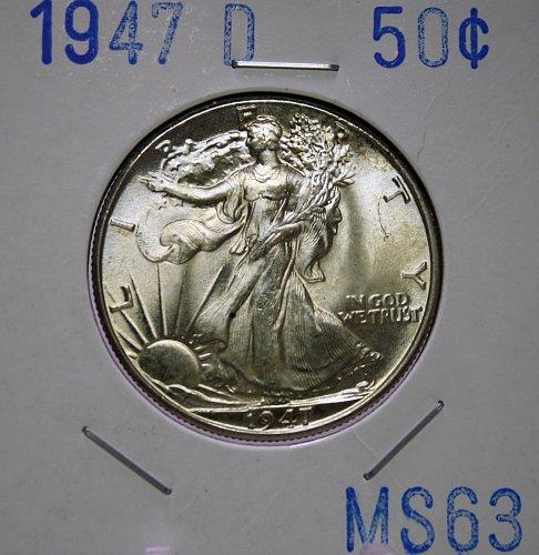 1947 D Walking Liberty Half Dollar
