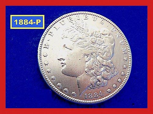 "1884-P Morgan Silver Dollar ☆ ""XF""  ☆(#5416)a"
