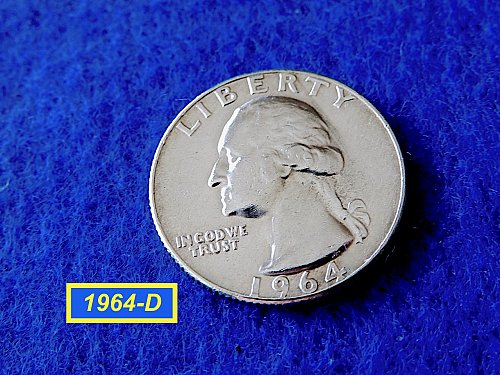 "1964-D Quarter  ☆ ""VF""  CONDITION ☆   (#2839)a"