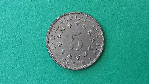1883 5C Shield Nickel UNC