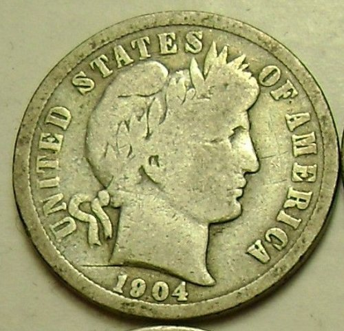 1904 VG Very Good Barber Dime Free Shipping