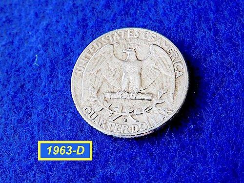 """1963-D Quarter  ☆ """"VF""""  CONDITION ☆   (#2841)a"""