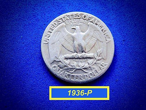 "1936-P Washington Quarter ★ ""Circulated""  ☆  (#2851)a"