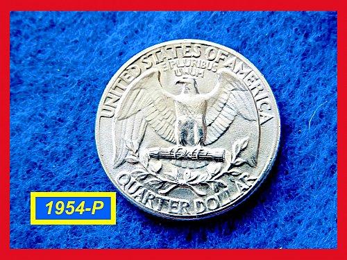 """1954-P Washington Quarters ✬ """"AU-UNC"""" ✬ (#2848)a"""