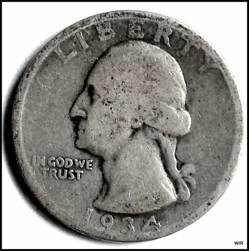 1934-P Washington Quarter