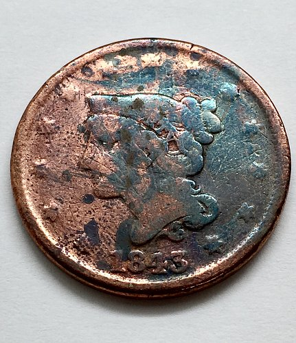 1843 Large Cent - Petite Head - Small Letters
