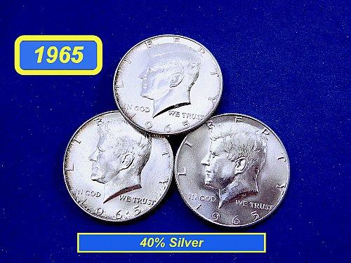 """1965 40% Silver  Kennedy Half  –––  """"AU Condition""""  (#1010)a"""