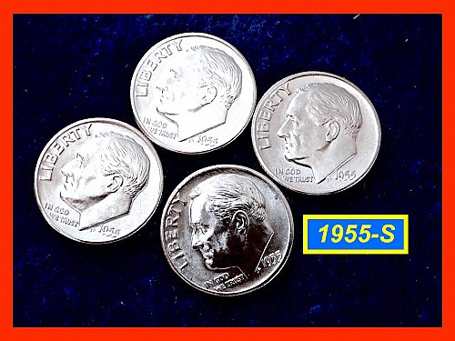 "1955-S Roosevelt Dime ☆ Lustrous ""BU"" Coin  ☆ (#3662)a"