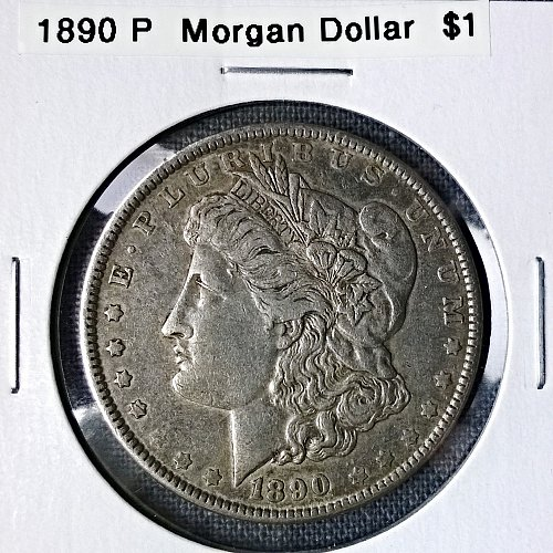 1890 P Morgan Dollar - 8 Photos!