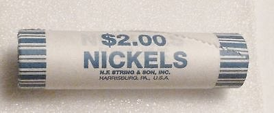 2005 d Jefferson nickel $2. roll. American Bison. With bag.