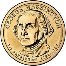 2007 P  GEORGE WASHINGTON  GOLDEN DOLLAR