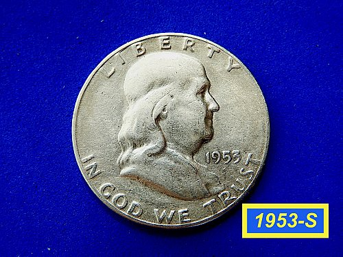 1953-S HALF ☆ Fine Condition Circulated ☆  (#1024)a