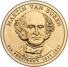 2008 P MARTIN VAN BUREN  GOLDEN DOLLAR