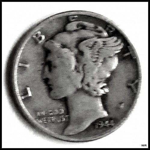 1944 P Mercury Winged Liberty Silver Dime