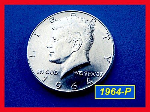 """1964-P Kennedy HALF ☆ Gem """"BU"""" ☆  (#1797)a"""