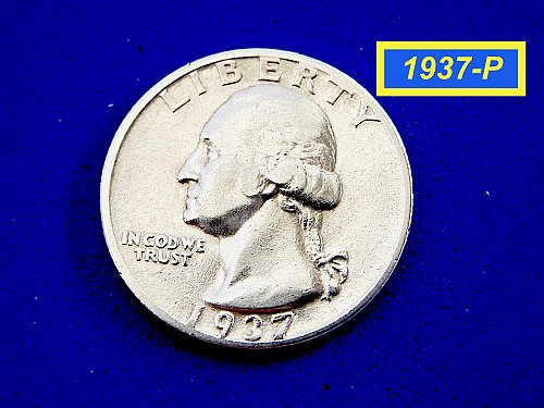 "1937-P Washington Quarter  ☆  ""VF-XF""  ☆  (#2892)a"