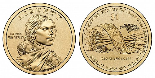2010 P Sacagawea Dollars: Great Law of Peace