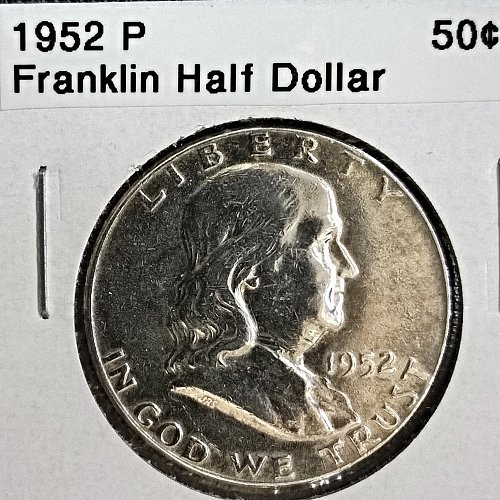 1952 P Franklin Half Dollar - 8 Photos!