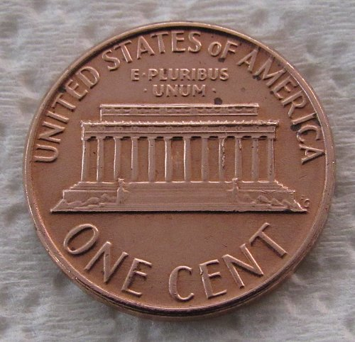 1980-D 1 Cent - Lincoln Memorial Cent