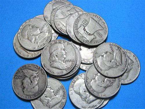 1954-D Franklin Half Dollar Roll **  20 Coins