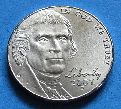 2007-P 5 Cents - Jefferson Nickel