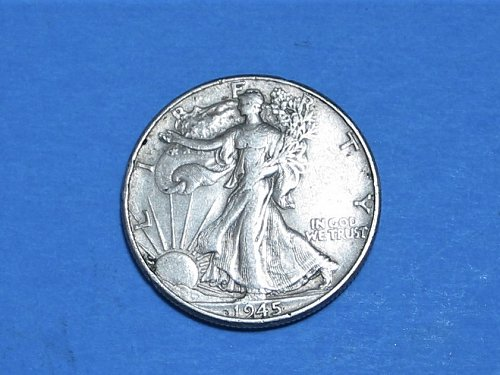 1945 Walking Liberty Half ** Nice 90% Silver Walker From The Philly Mint