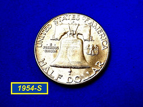 1954-S  Franklin  ☆ HIGH Grade with Nice Toning ☆   (#1037)a