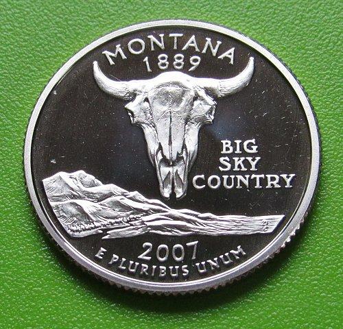2007-S 25 Cents - Montana State Quarter - Deep Cameo Proof
