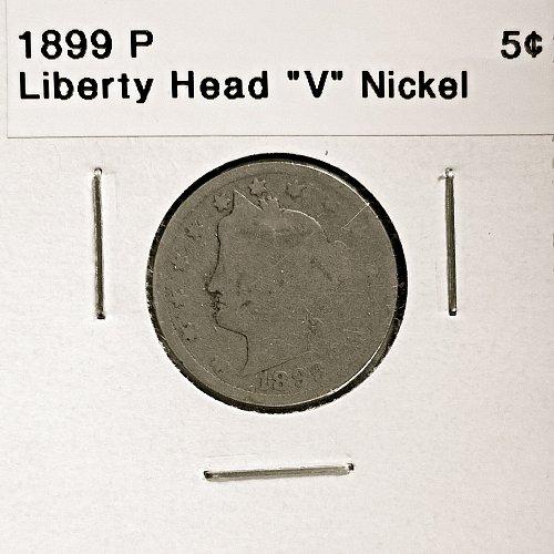 "1899 P  Liberty Head ""V"" Nickel - 4 Photos!"