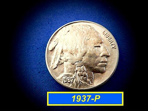 """1937-P Buffalo Nickel  ☆ """"AU-UNC"""" ☆    ☆  (#6452)b"""