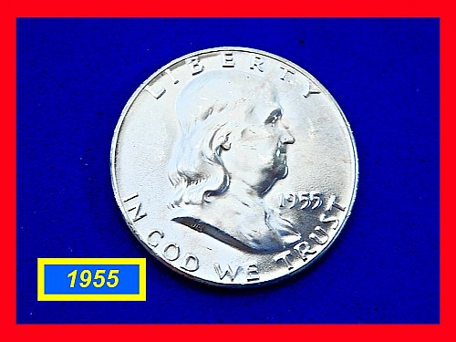 "1955-P  Franklin ☆  Gem ""MS-65"" FBL  ☆  (#1920)a"