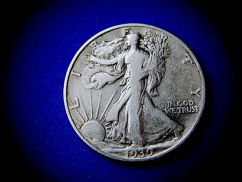 "1939-P  Liberty Walking Half Dollar ☆ ""Fine-15"" ☆  (#1022)a"