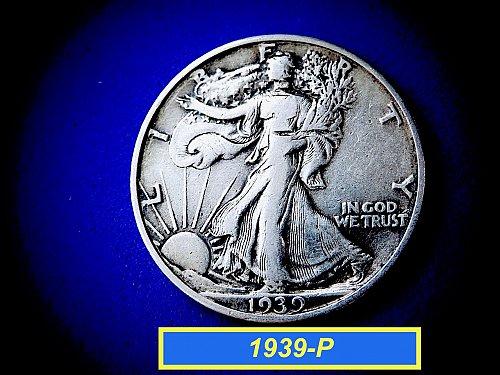 "1939-P  Liberty Walking Half Dollar ☆ ""VF-25"" ☆  (#1021)a"