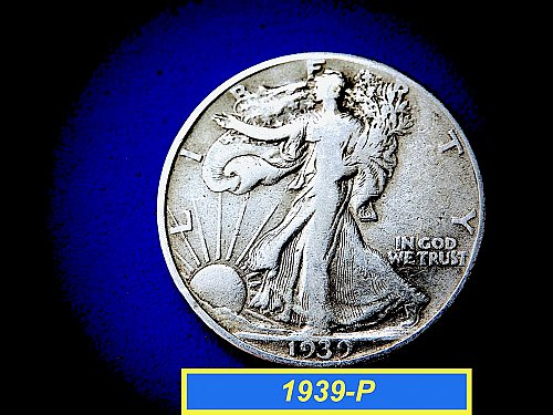 "1939-P  Liberty Walking Half Dollar ☆ ""Circulated"" ☆  (#1018)a"