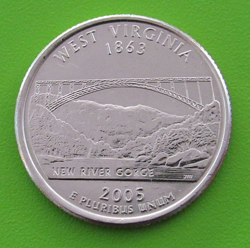 2005-D 25 Cents - West Virginia State Quarter