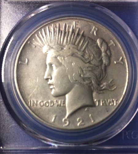 1921-P High Relief Peace Dollar