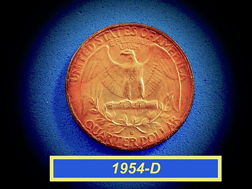 "1954-D Monster Toned Quarter ☆ ""BU"" ☆  (#2922)b"