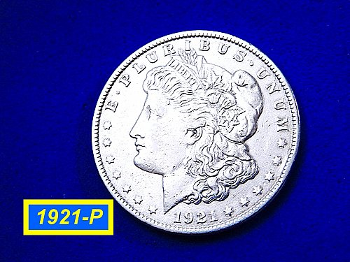 "1921-P Morgan Silver Dollar  ☆  ""XF-40""   ☆ (#5448)b"