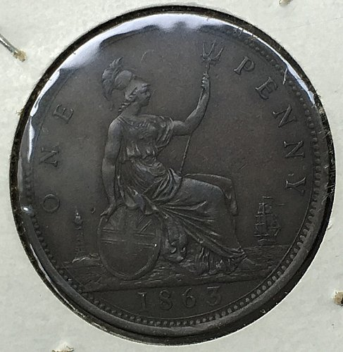 1863 Great Britain Penny