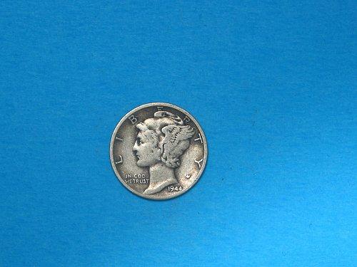 1944-D Mercury Dime ** Nice WW-ll Era Silver Dime