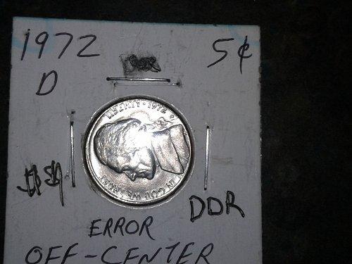 1972-d off center /DDR rare nickel