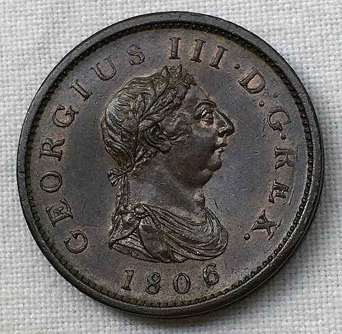 1806 Great Britain Penny - Uncirculated
