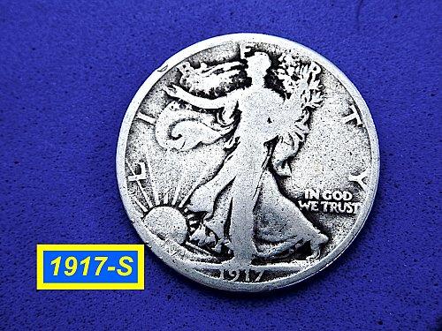 """1917-S  Liberty Walking  ☆ """"Circulated"""" ☆  (#1062)b"""