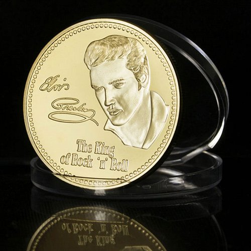 elvis king of rock and roll medal