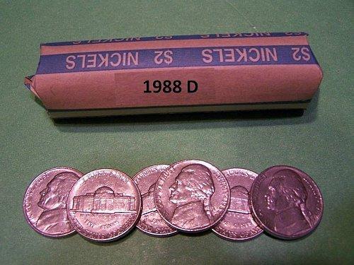 6- nice 1988d nickels