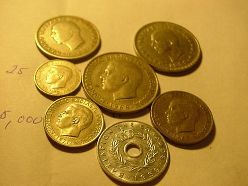 7- greek coins nice