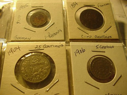 17-world coins in 2x2 nice lot nice price