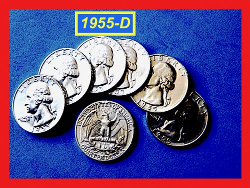 "FLASHY 1955-D  Quarter ☆ GEM ""BU"" ""MS-65"" ☆ (#2735.6)a"