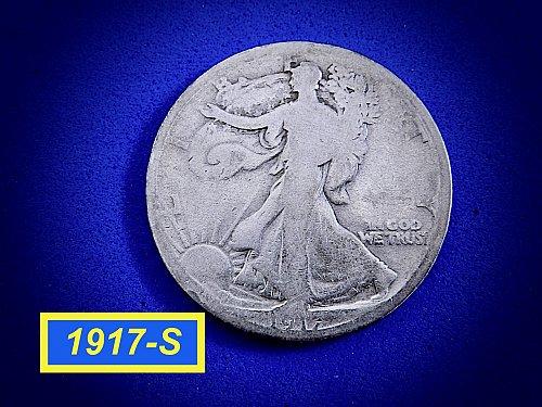 1917-S Walking Liberty  ☆ Circulated ☆ (#1067)a